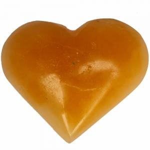 SELENITE - Heart Orange 7cm