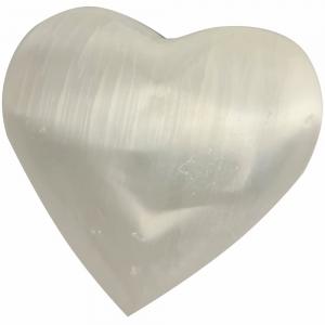 SELENITE - Heart White 7cm
