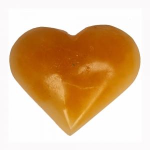 SELENITE - Heart Orange 5cm