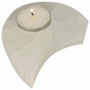 SELENITE - Candle Holder Moon 9cm