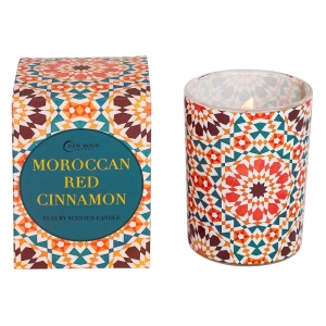 CANDLE - NEW MOON Moroccan Red Cinnamon 220g