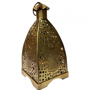 22cm Gold Finish Angel Lantern