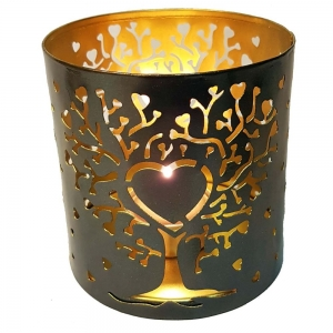10cm Tree of Heart Metal Candle Holder