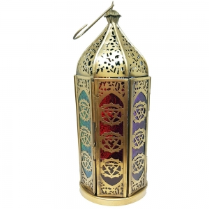 LANTERN - 30cm 7 Chakra Brass
