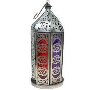 30cm 7 Chakra Zinc Lantern