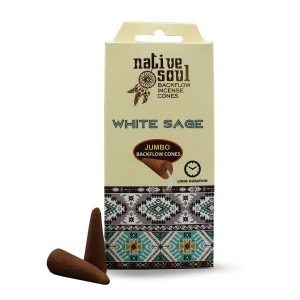 Native Soul Backflow Cones - White Sage
