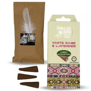 Native Soul Backflow Cones - White Sage and Lavender