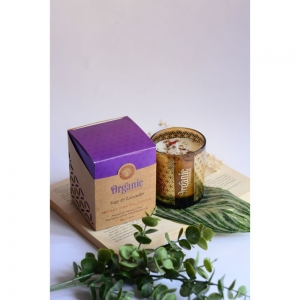 ORGANIC GOODNESS SMUDGE CANDLE - Sage and Lavender 200gm