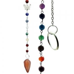 Orange Aventurine Multifaceted Pendulum