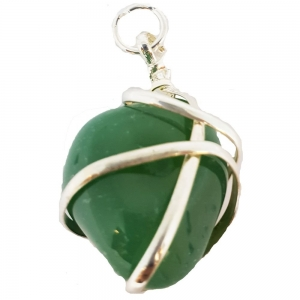 PENDANT - Wire Wrapped Green Onyx