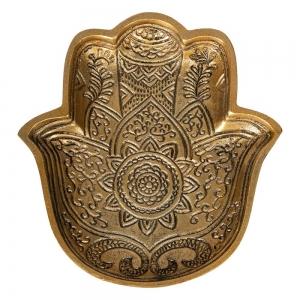 ALUMINIUM BOWL - Hamsa Hand 25cm x 22cm x 3cm
