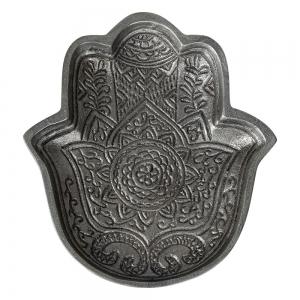 ALUMINIUM BOWL - Hamsa Hand Zinc Finish 20cmx  18cm x 2.5cm