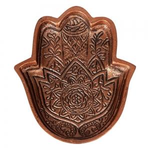 ALUMINIUM BOWL - Hamsa Hand Copper Finish 17cm x 14cm x 2cm