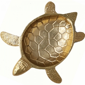 TRAY - Aluminium Tortoise 25cm