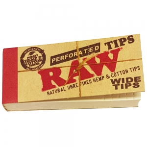 Raw Wide Tips 25mm x 56mm - 50 Tips