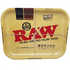 Raw Metal Rolling Tray - Medium 34 x 27.5cm