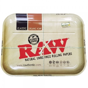 Raw Metal Rolling Tray - XXL 50.5 x 38.5cm
