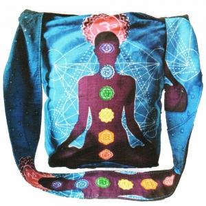 SHOULDER BAG - Chakra Meditation Turquoise