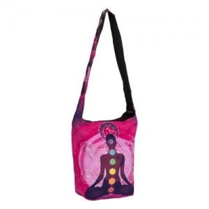SHOULDER BAG - Chakra Meditation Pink