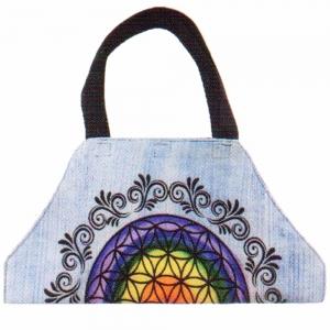 YOGA SHOULDER BAG - Chakra Flower of Life Blue