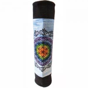 YOGA BOLSTER BAG - Chakra Flower Blue