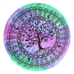 ROUND TAPESTRY - Multifaith Tree of Life 180cm