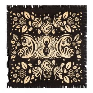 ALTAR CLOTH - Goddess Moon Gold Print 60cm x 60cm