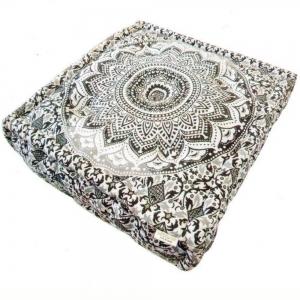 SQUARE CUSHION - Mandala Black 10X40cm