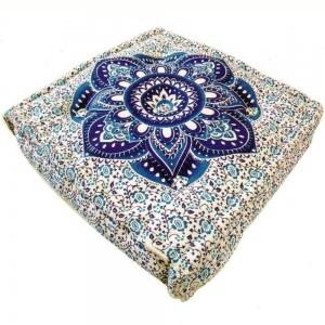 SQUARE CUSHION - Mandala Blue 10X40cm