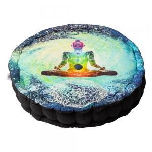 PUFF CUSHION- Meditation Blue Multi 10x40cm