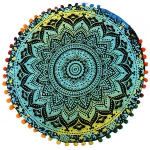 PUFF CUSHION- Mandala Chakra 9x38cm
