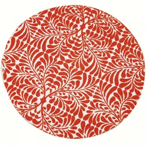 Round Cotton Table Mat 37cm - Orange