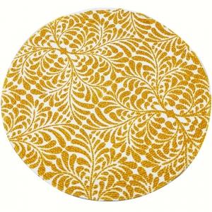 Round Cotton Table Mat 37cm - Yellow