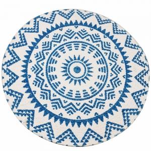 Round Cotton Table Mat 37cm - Blue