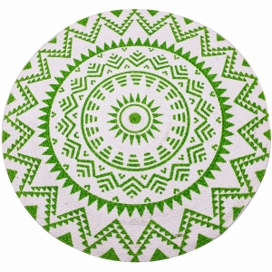 Round Cotton Table Mat 37cm - Green