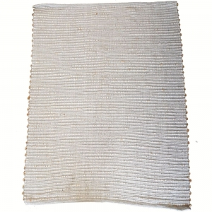 130cm x 190cm - Grey Cotton and Jute Rug