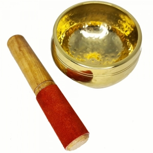 SINGING BOWL - Brass Dotted 5cm x 9cm