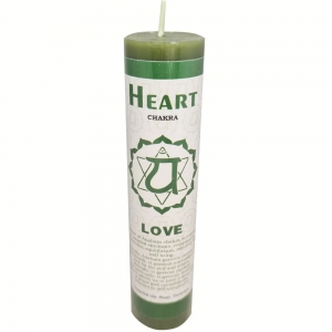 CANDLE - Heart Chakra 3.8cm x 17.8cm
