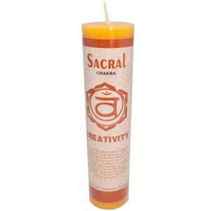 CANDLE - Sacral Chakra 3.8cm x 17.8cm