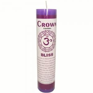 CANDLE - Crown Chakra 3.8cm x 17.8cm