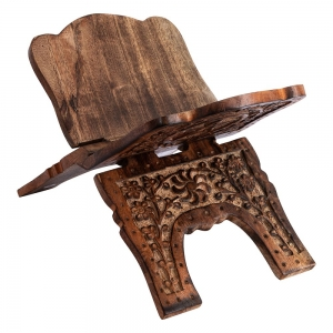 BOOK HOLDER - Wooden Pentacle Engraved 16cm x 18cm x 28cm