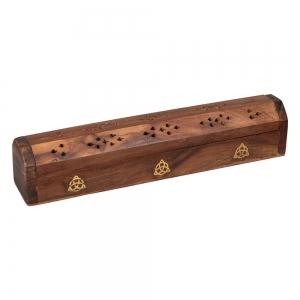 BOX INCENSE HOLDER  - TRIQUETRA 30.5cm