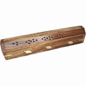BOX INCENSE HOLDER  - ELEPHANT 30.5cm