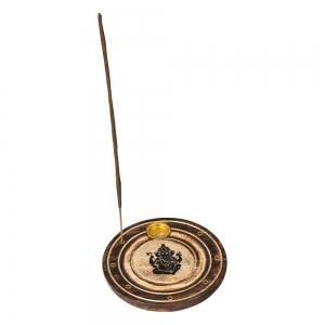 FLAT ROUND ASH CATCHER - Ganesh 10cm (Set of 12)