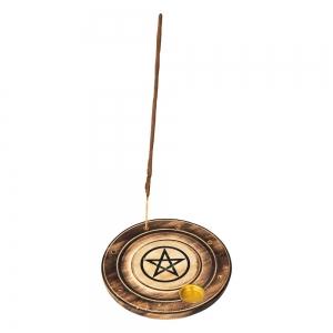 FLAT ROUND ASH CATCHER - Pentacle 10cm (Set of 12)