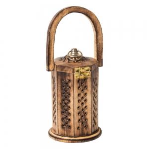 CONE INCENSE BURNER - Wooden Lantern with handle 10cm x 20cm