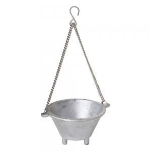 CAULDRON - Aluminium Silver with Hanging