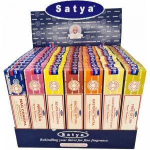 DISPLAY - Satya Incense Assorted 15gms - Set 2 (84pk)