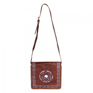 LEATHER BAG - Pentacle Cut Satchel 35cmx35cm