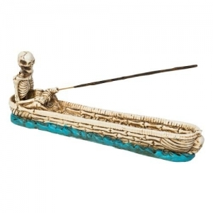 Skeleton Fishing Incense Burner